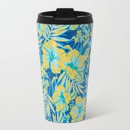 Bright Tropical Hibiscus Travel Mug