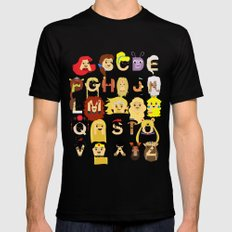 Princess Alphabet MEDIUM Black Mens Fitted Tee