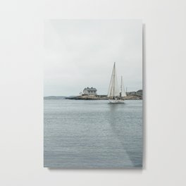 Sailing in Marstrand, Sweden | Nature photography color | Coastal fine art  Metal Print