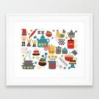 kitchen Framed Art Prints featuring Kitchen by Kathrin Legg