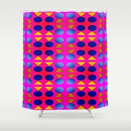 Dots, light, triangles and pattern ... Shower Curtain