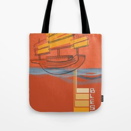 Poster Project   Bless Ship Orange Tote Bag