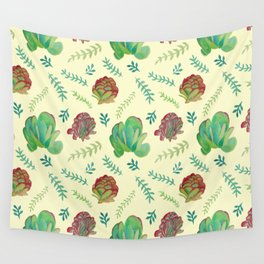 Paddle Plant Pattern Wall Tapestry