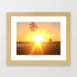 Sunset Burst Framed Art Print