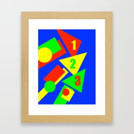 One Two Three Framed Art Print