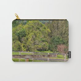 Broken fence in a rural area Carry-All Pouch