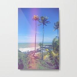 Fragmented Palm Metal Print
