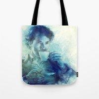 tea Tote Bags featuring Tea by Anna Dittmann