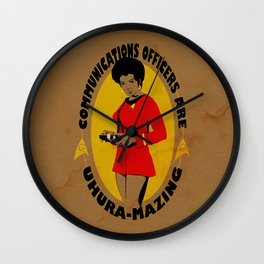 Uhura-mazing Wall Clock