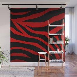 Rare Red Zebra Wall Mural