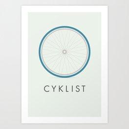 Cyklist Art Print