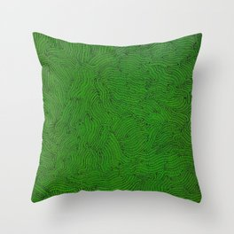 Gusanos Throw Pillow