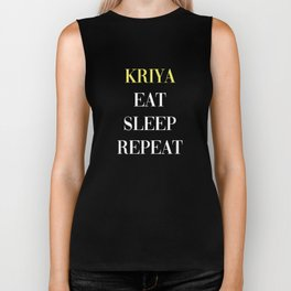 Kriya Eat Sleep Repeat Biker Tank