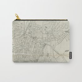 Vintage Map of White Plains NY (1921) Carry-All Pouch