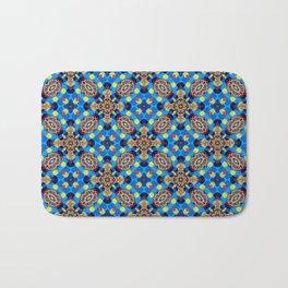 Beautiful Bright Beadwork Inspired Print Bath Mat