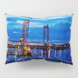 Night Bridge Lights Pillow Sham