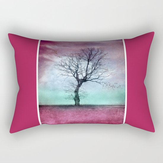 ATMOSPHERIC TREE - Winter Sun Rectangular Pillow