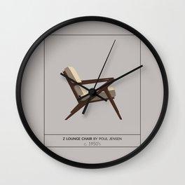 Z Lounge Chair Wall Clock