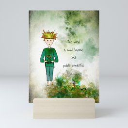 Ginkelmier and Frog Mud Luscious and Puddle Wonderful Mini Art Print