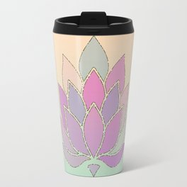 Lotus Flower Pastel Meditation Yoga Symbol Travel Mug