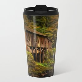 Baroque Cedar Grist Mill Metal Travel Mug