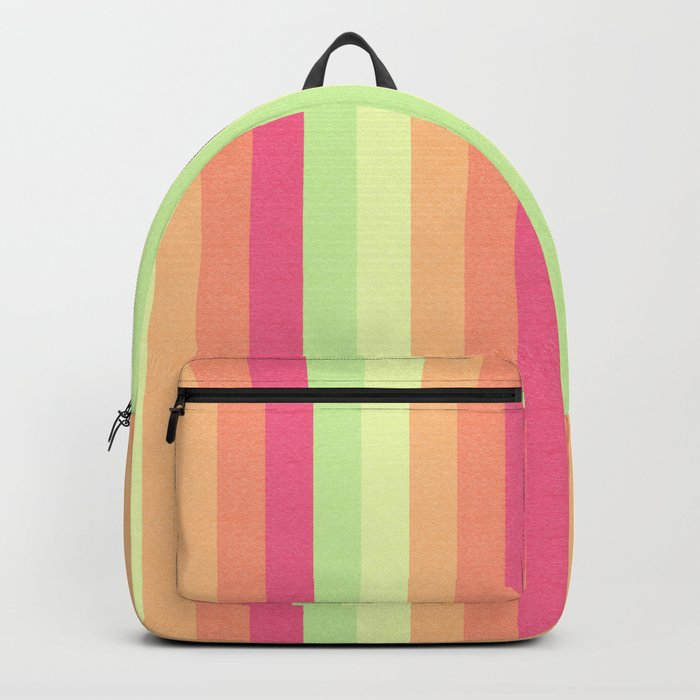 Melon Ball Striped Pattern Backpack