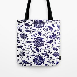 Chinese Floral Pattern Tote Bag