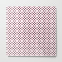 Rose Wine Polka Dots Metal Print
