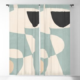 Minimal Abstract Shapes 38 Blackout Curtain