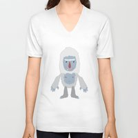 yeti V-neck T-shirts featuring Yeti by Kidney Theft
