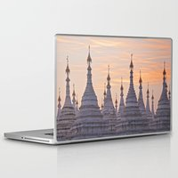 buddhism Laptop & iPad Skins featuring Sandamani Pagoda, Mandalay, Myanmar by Maria Heyens