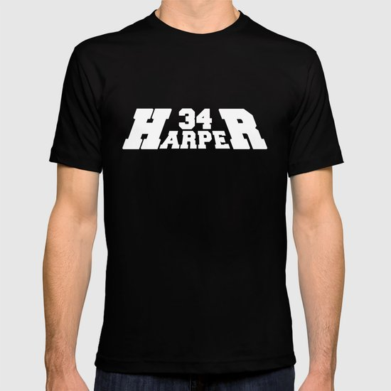 HR Harper White Text T-shirt