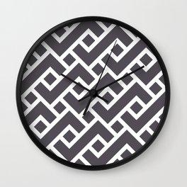 Monochrome Intricate Pattern Gamma Wall Clock
