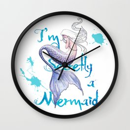 Secretly a Mermaid Wall Clock