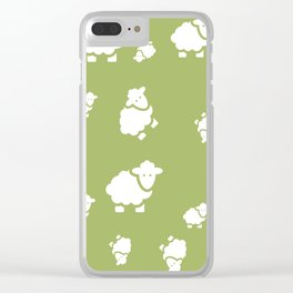 background with sheep Clear iPhone Case