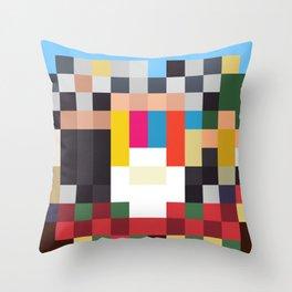 Sgt. Pixel Throw Pillow