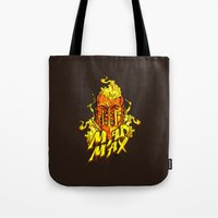 mad Tote Bags featuring Mad by Demonigote