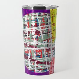 Crisscrossing - geometric Travel Mug