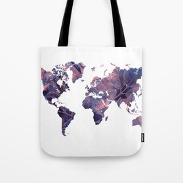 world map 76 purple Tote Bag