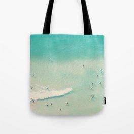beach summer waves Tote Bag