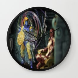 How Dare You Sit in the King's Chair...Prepare 2 Meet Your Doom!!! Wall Clock