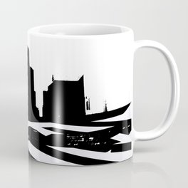 City Scape in Black and White Coffee Mug