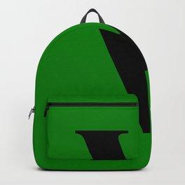V MONOGRAM (BLACK & GREEN) Backpack