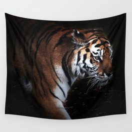 Tiger in search of Wall Tapestry