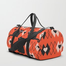 Cats and hearts with diamonds Duffle Bag