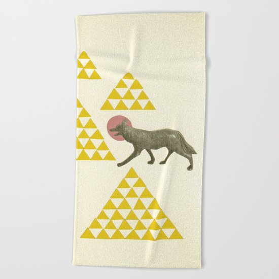 Mountain Wolf Beach Towel