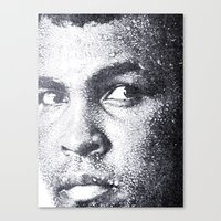 ali gulec Canvas Prints featuring Ali by Paul Charles Kopp