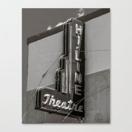 Hi-line Theater Sign, Rudyard, MT Canvas Print
