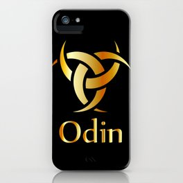 Odin- The graphic is a symbol of the horns of Odin, a satanist symbol iPhone Case