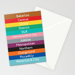 London Underground Stationery Cards